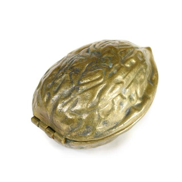 Vintage Heavy Hinged Brass Walnut Shaped Nutcracker For Sale - Image 4 of 10