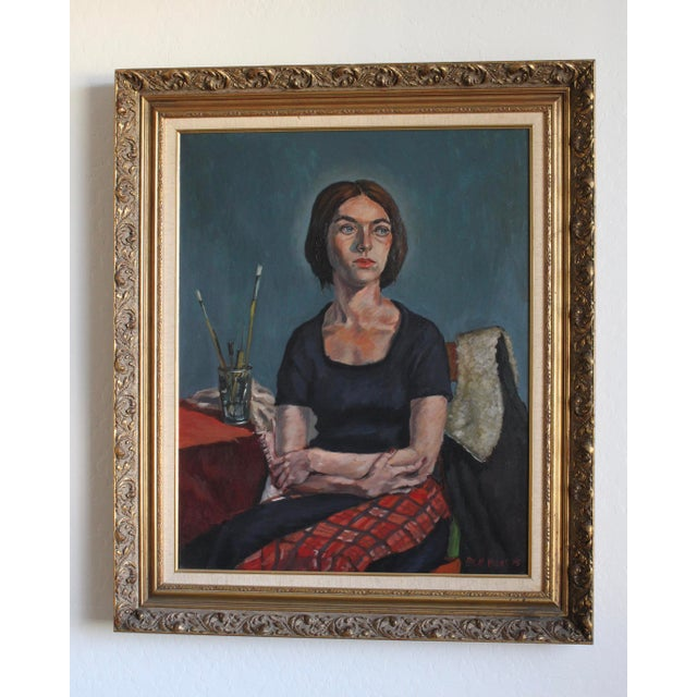 Ben Wilks Painting, Studio Portrait, Untitled For Sale - Image 11 of 11