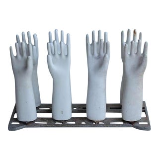 1980's Vintage Industrial Glove Molds- Set of 8 For Sale