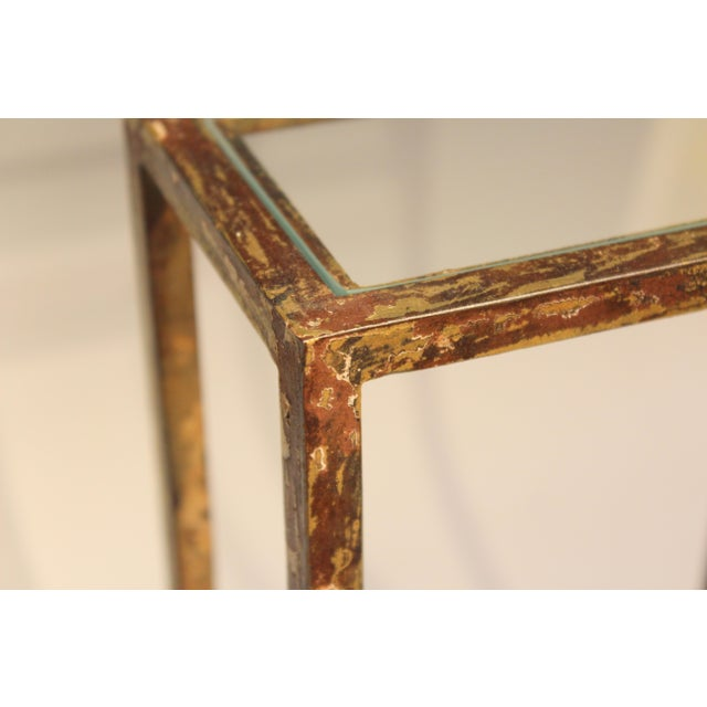 1960s Mid-Century Modern Display Shelf Glass Steel Case Tabletop Curio Gilt For Sale - Image 11 of 12