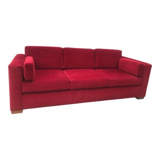 Modern Contemporary Red Sofa For Sale