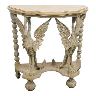 Carved Demilune Console Table