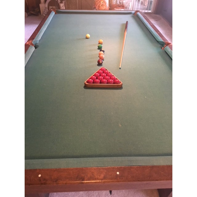 Late 19th Century 19th Century Slate Top Snooker Table For Sale - Image 5 of 13