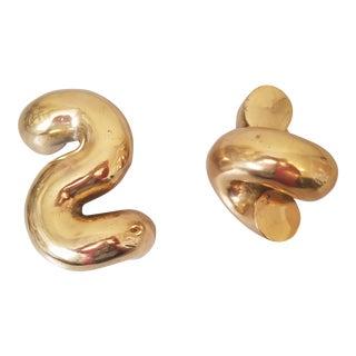 Noir Gold Sculptures - a Pair For Sale