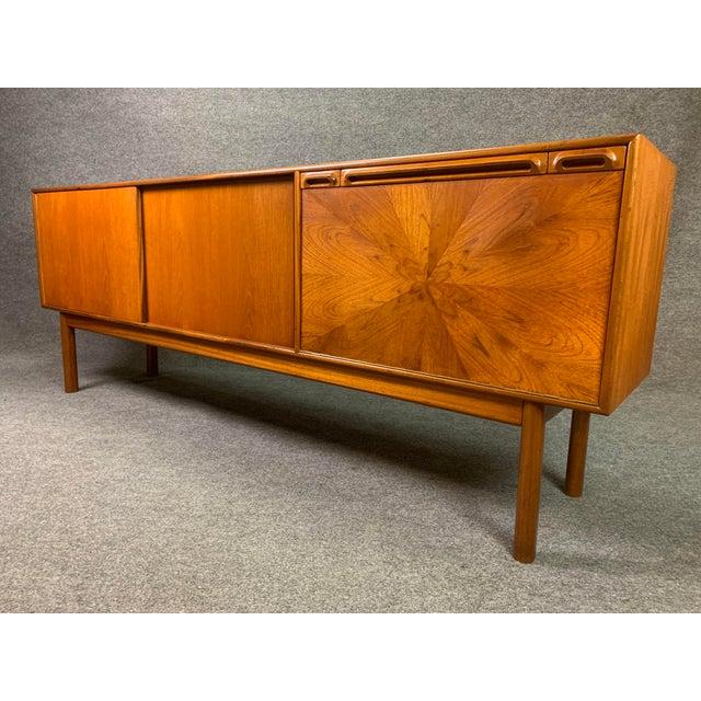 "Mid-Century Modern 1960s British Mid Century Modern McIntosh Teak ""Sunburst"" Credenza For Sale - Image 3 of 11"