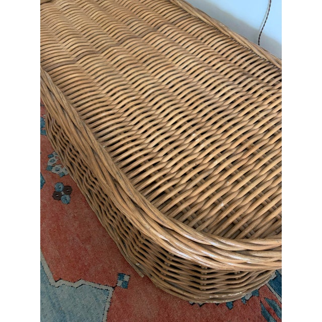 Vintage Wicker Coffee Table For Sale In Los Angeles - Image 6 of 8