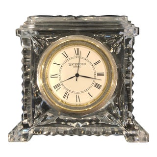 "Waterford Crystal ""Medallion"" Clock For Sale"
