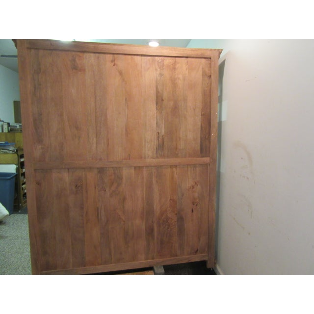 Brown Large French Country Open-Front Cupboard For Sale - Image 8 of 10