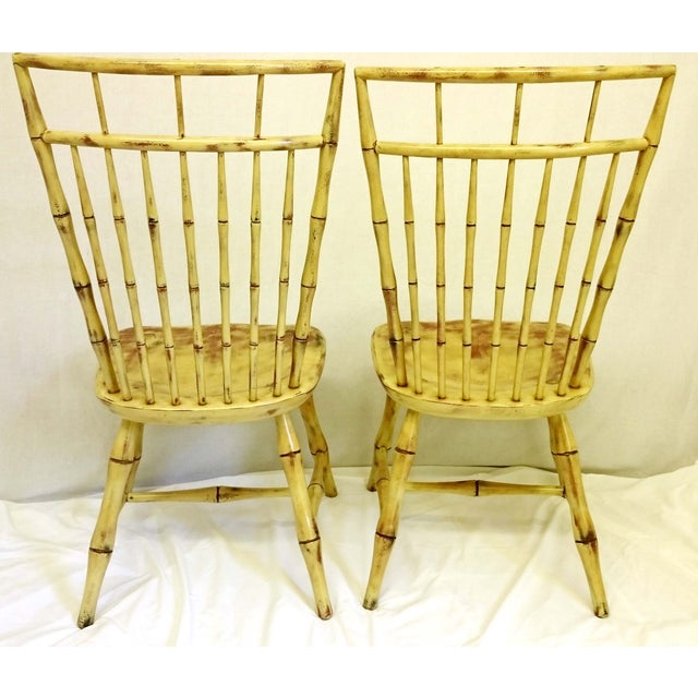 Painted Birdcage Windsor Chairs - A Pair For Sale - Image 10 of 11
