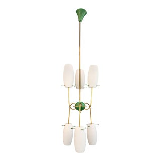 Italian Chandelier Design by Stilnovo For Sale