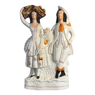 Large Antique Staffordshire Country Scottish Figurine For Sale