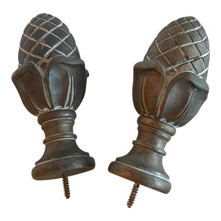 Large Classic Design Artichoke Finials - a Pair For Sale