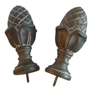 Large Classic Design Artichoke Finials - a Pair