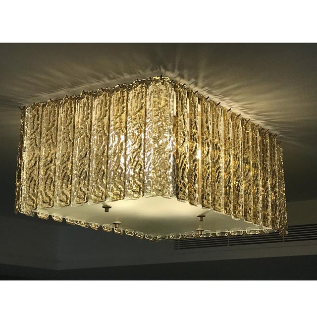Bespoke Italian modern Art Deco design, entirely handcrafted in Italy, chandelier customizable as flush mounts or...
