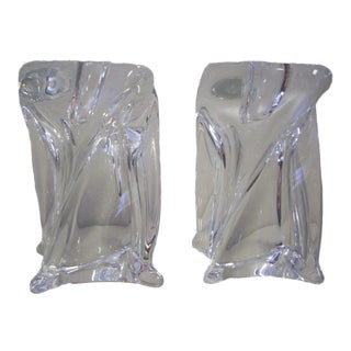 1970s Crystal St. Louis Candleholders - a Pair For Sale