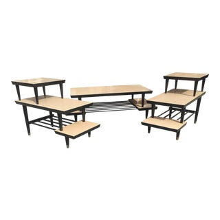 1950's Modern Coffee Table & Two Endtables For Sale