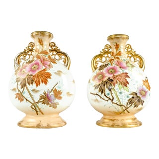 Antique Pair German Porcelain Pieces For Sale