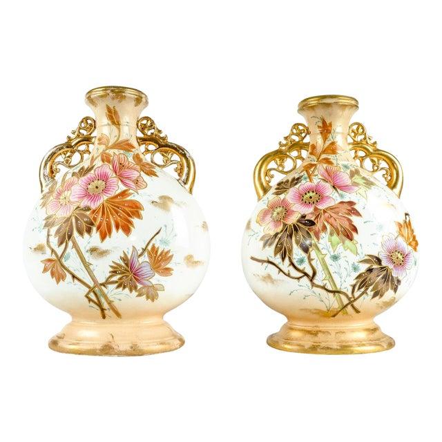 Antique Pair German Porcelain Pieces For Sale