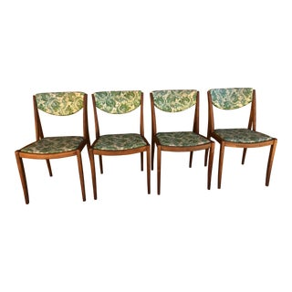 1960s Danish Modern Drexel Parallel Barney Flagg Chairs - Set of 4 For Sale