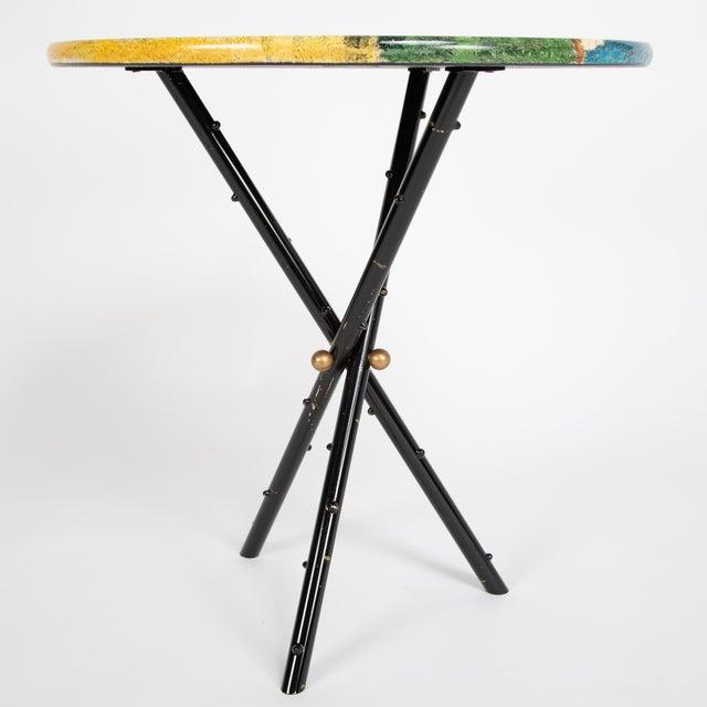 """1950s Piero Fornasetti """"Città DI Carte"""" Side Tables, Circa 1950s - a Pair For Sale - Image 5 of 13"""
