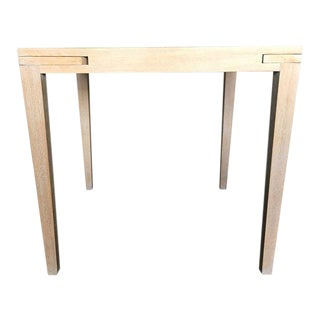 Cerused Oak Card Table