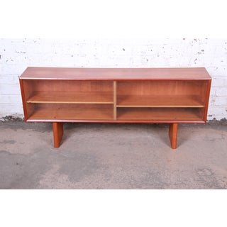 Ib Kofod-Larsen for Faarup Danish Modern Teak Glass Front Credenza or Bookcase Preview