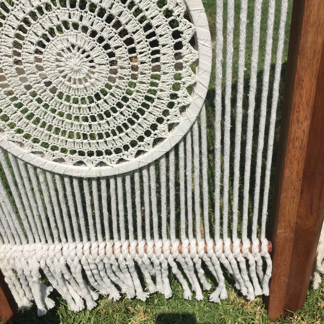 Macrame Room Divider For Sale In Los Angeles - Image 6 of 10