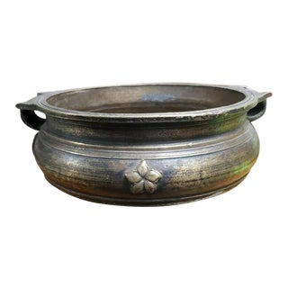 1920s Vintage South Indian Bronze Varpu Bowl For Sale
