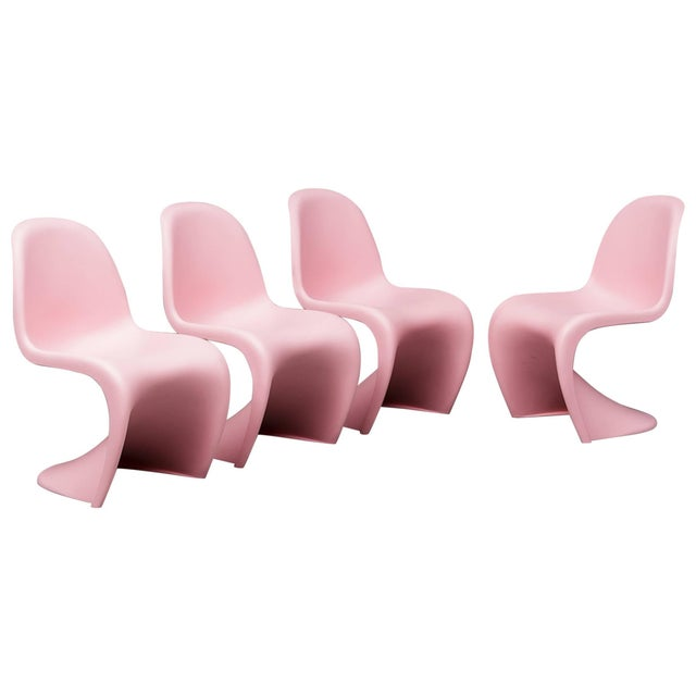 """Plastic Verner Panton """"S"""" Chairs- Set of 4 For Sale - Image 7 of 7"""
