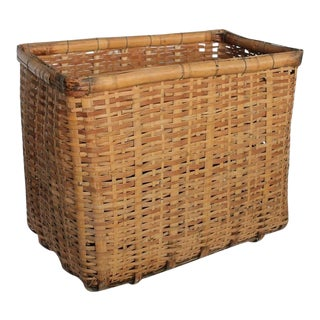 Early 20th C. Antique American Gathering Basket For Sale