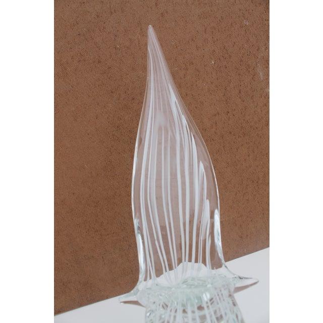 Vintage Art Murano Glass Bird Figure Sculpture By Yanilk L. For Sale - Image 4 of 8