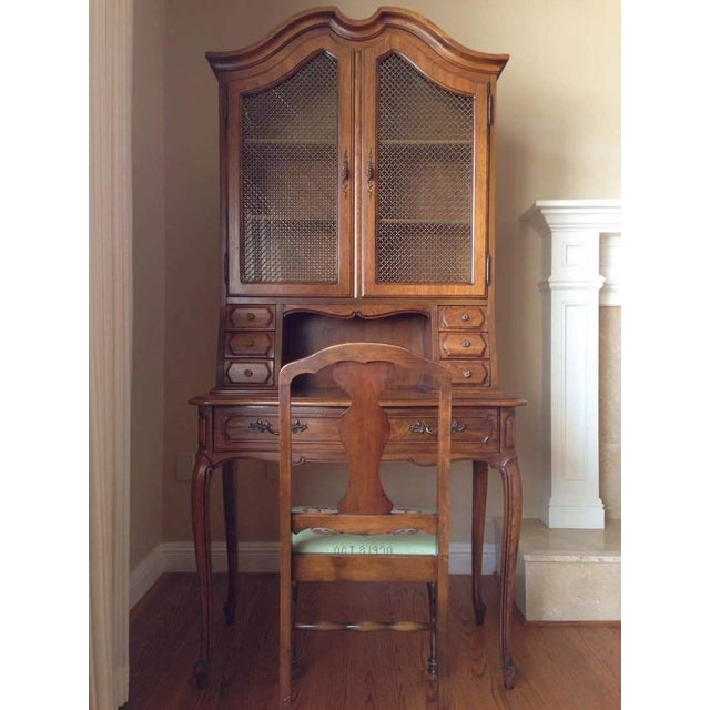Vintage Thomasville Maple Secretary Desk with Hutch and ...