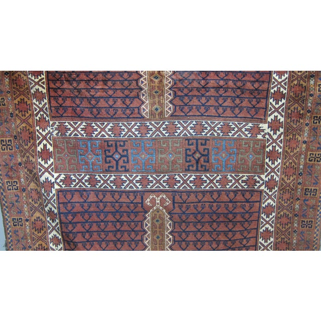 "Vintage Sarreid LTD Tribal Rug - 5' x 6'11"" - Image 6 of 6"
