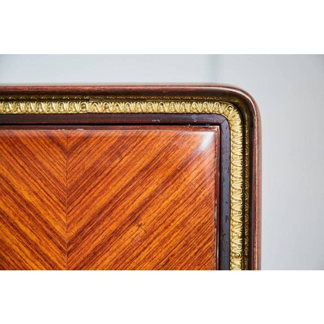 1950s Paolo Buffa Chevron Parquetry Italian Rosewood Buffet For Sale - Image 9 of 9