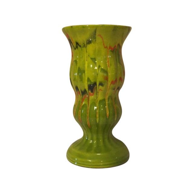 CFP California Pottery Drip Vase, Mid Century For Sale