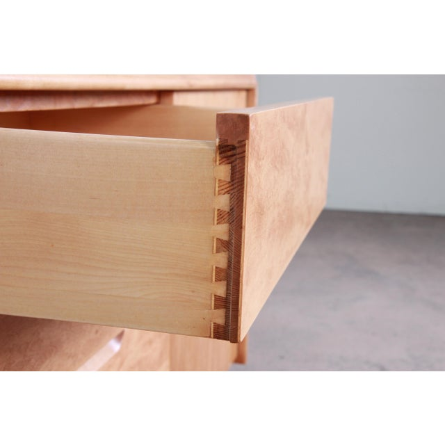 Edmond Spence Swedish Modern Maple Sideboard Credenza, Newly Refinished For Sale - Image 10 of 13