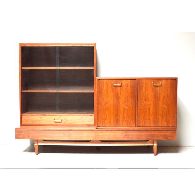 American of Martinsville Mid-Century Wall Unit - Image 2 of 6