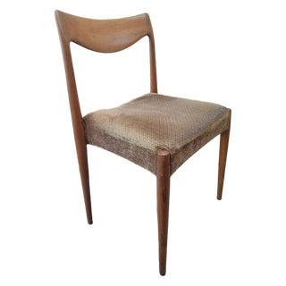 Vintage Danish Modern Rastad and Relling Bambi Gustav Bahus Dining Chair For Sale
