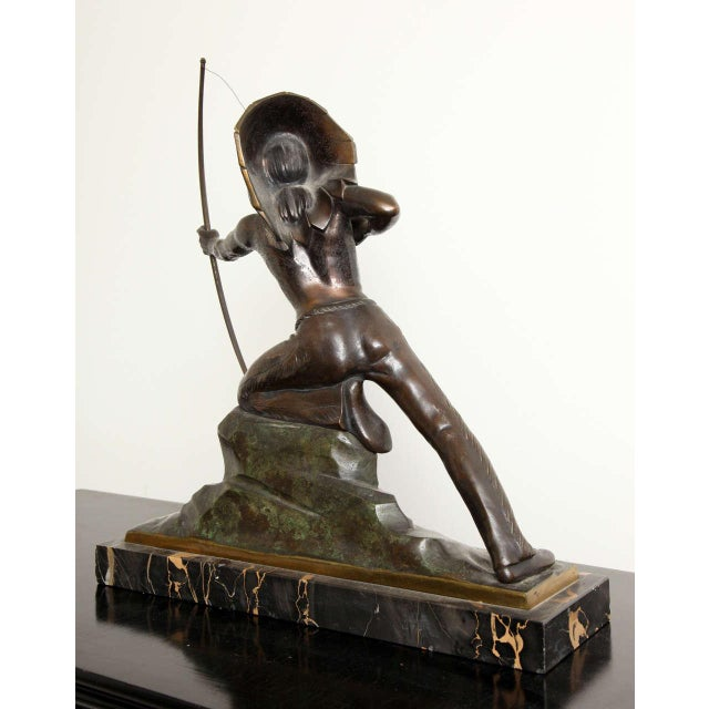 French Art Deco Bronze Signed E. Guy For Sale - Image 9 of 10