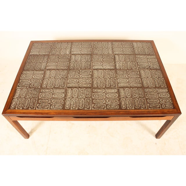 Mid-Century Modern Tile Top Center Table - Image 4 of 4