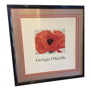 Framed Georgia O'Keefe Red Poppy Print For Sale
