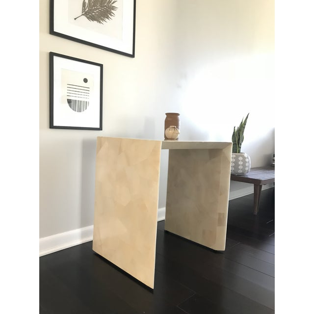 2010s Modern Made Goods Sleek Faux Horn Side Table For Sale - Image 5 of 13