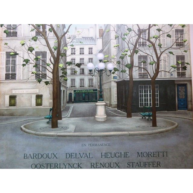Vintage French Galerie Roussard Lithograph - Image 4 of 5