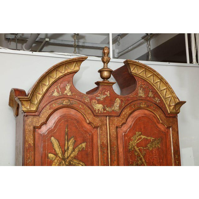 Lacquer Extraordinary George III Lacquered Secretary For Sale - Image 7 of 14