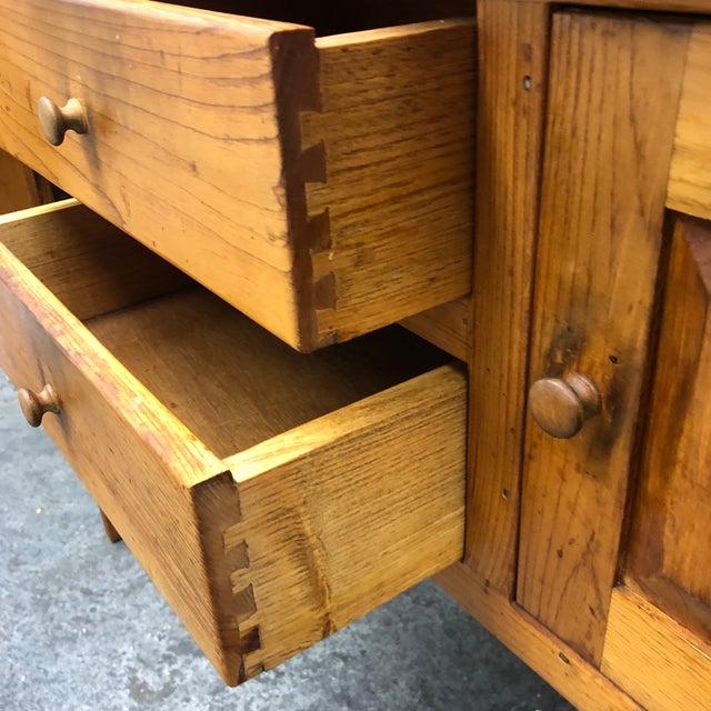 Borkholder Vintage Amish Crafted Sideboard + Hutch For Sale In San Francisco - Image 6 of 10