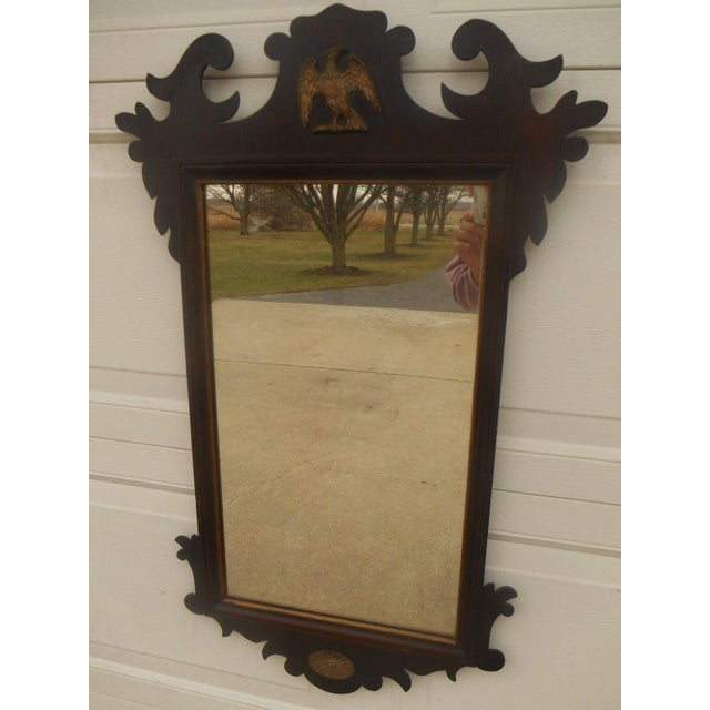 Antique Large Federal Eagle Crest Gold Gilt Mirror - Image 2 of 6