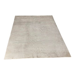 White Viscose Rug - 12′ × 15' For Sale