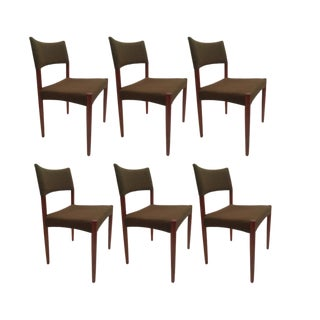 1950s Vintage Schou Andersen / Ab Madsen Teak Dining Chairs- Set of 6 For Sale