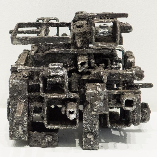 "Abstract James Bearden ""Dwelling Box"" Sculpture For Sale - Image 3 of 10"