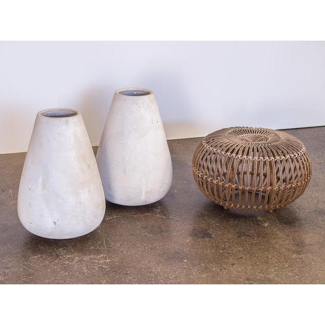 Mid-Century Modern Mid-Century White Teardrop Planters- A Pair For Sale - Image 3 of 7